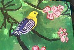 acrylic bird Lydia Sutton