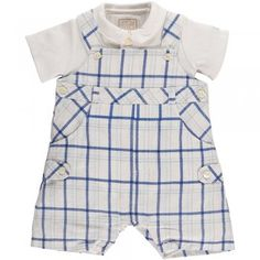 """We love this traditional, checked bib short """"Edgar"""" from Emile et Rose"""