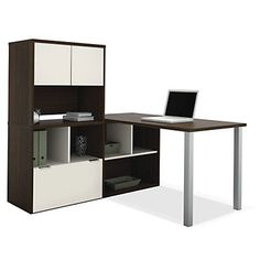 Contempo L Desk With Storage