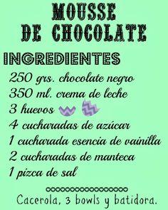 Soy un Mix!: Mousse de chocolate. Receta rápida, fácil y rica!!!