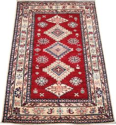 Today's Kazak is a modern shape of old Caucasian rugs which strictly adheres to traditional design elements of the Caucasus.  http://www.alrug.com/4872