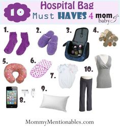 Best List! The 10 Hospital Bag Must Have's for Mom & Baby