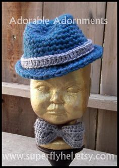 Baby Fedora Hat, Teal Hat by superflyhel on Etsy