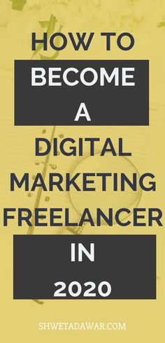 How To Become A Digital Marketing Freelancer in 2020 - Shweta Dawar Legit Online Jobs, Online Jobs From Home, Make Money Blogging, How To Make Money, How To Become, Marketing Automation, Inbound Marketing, Email Marketing Lists, Digital Marketing