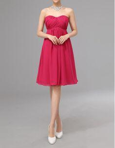 Find elegant empire sweetheart knee length ruched chiffon bridesmaid dresses under $100, short bridesmaid dresses, bridesmaid dresses at discount prices