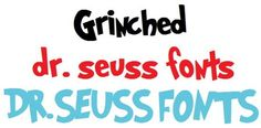 Free Dr. Seuss Fonts