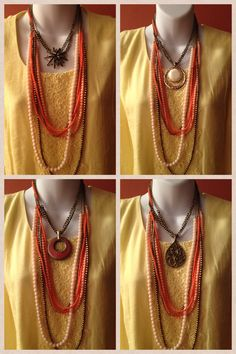 Pick a pendant and Papaya. I never would have thought to put that necklace with yellow.