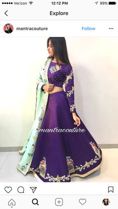Excellent combination !!!! Indian Wedding Gowns, Indian Bridal, Indian Dresses, Indian Outfits, Indian Attire, Indian Wear, Indian Designer Outfits, Designer Dresses, Gagra Choli