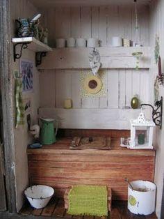 roombox huussi - Google-haku Shabby Chic Interiors, Miniatures, Cottage, Rustic, Interior Design, Google, Country Primitive, Nest Design, Rustic Feel