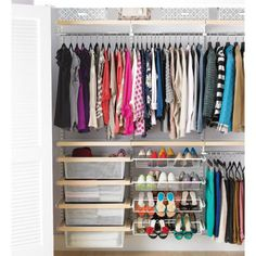 13 closet organizing ideas you can use today.: Birch + White elfa decor Reach-In Clothes Closet