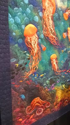 Quilting - Community - Google+ #Jellyfish-a quilt work of the #sea!
