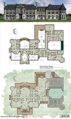sq ft second floor J. Costantin Architecture - Colts Neck NJ Architect - JCA by Dittekarina Luxury House Plans, Dream House Plans, House Floor Plans, Castle Layout, Architectural Floor Plans, Apartment Floor Plans, Castle House, House Blueprints, Architecture Plan