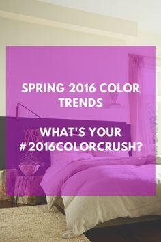 Spring 2016 Color Trends #housetohome @SherwinWilliams