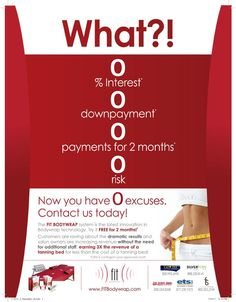 Zero excuses - make more revenue with the service everyone wants, a weight loss body wrap!