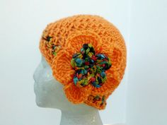 Crocheted Cloche Hat by CottageStreetStation on Etsy