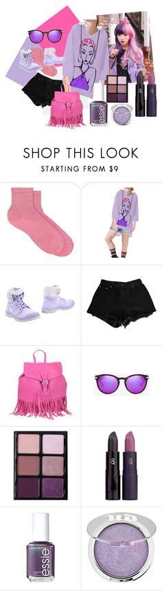 """Fashion Rose BGB Step Hoodie"" by bgbglitter on Polyvore featuring Maria La Rosa, Palladium, Levi's, R & R Collections, Michael Kors, Viseart, Lipstick Queen, Essie and Urban Decay"