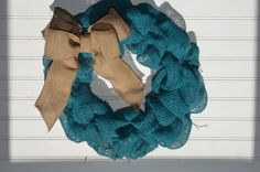 Burlap Wreath by NaturalEffects on Etsy