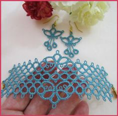 Machine embroidery - Tatting Crosses by Murphy's Designs; not tatting; just for ideas.