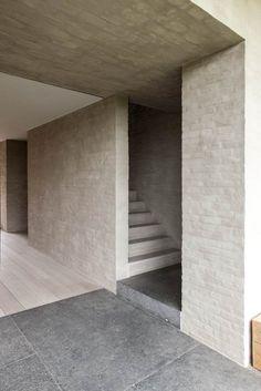 Flemish Rural Architecture - House in Zwevegem by Vincent Van Duysen Minimalist Architecture, Minimalist Interior, Architecture Details, Interior Architecture, Arch Interior, Interior Stairs, Vincent Van Duysen, Building A House, Villa