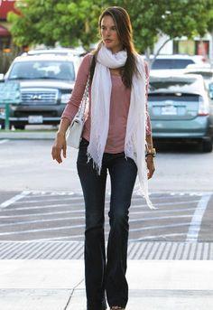 J Brand Lovestory Flare Jean in Dark Vintage - as seen on Alessandra Ambrosio  $218