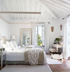 neutral bedroom, so clean and crisp.