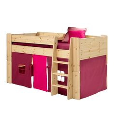 buy tictactoe mid sleeper bed slide u0026 accessories natural pine u0026 pink from our furniture range today from george at asda