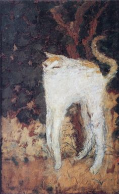 """intangiblepetrifications: """" Pierre Bonnard (French, b. 1867 -1947) """" """"The White Cat"""" - Oil on canvas """" """""""