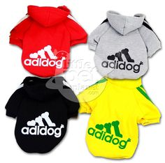 Adidog Pet Dog Hoodie Tee - FREE SHIPPING WORLDWIDE | Little Pet Planet