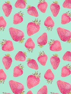 Strawberries | Marta Olga Klara Strawberry print makes everything feel like summer. And turquoise is my favorite color.