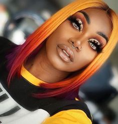 Online Shop Ombre hair color sew in human hair bundles and closure and frontal for brunettes colored hair for black off promotion factory cheap price,DHL worldwide shipping, store coupon available. Black Women Hairstyles, Trendy Hairstyles, Wig Hairstyles, Hairstyles Pictures, African Hairstyles, African American Short Hairstyles, Short Haircuts, Hairstyles 2016, Hair Color African American