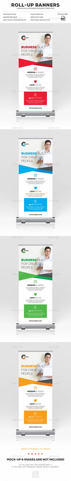 Corporate Roll-Up Banner Ads Design Template - Signage Print Template PSD. Download here: https://graphicriver.net/item/corporate-rollup-banner/17029633?s_rank=68&ref=yinkira