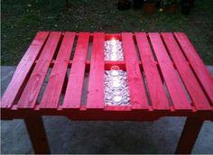 pallet garden table. cool idea!