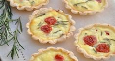 Ricotta Rosemary and Tomato Mini Quiche  This is great brunch recipe, perfect for holiday entertaining!
