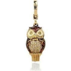 Juicy Couture Diamanté owl charm