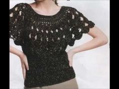 #Crochet Womens' Ladies Shirt top Blouse #TUTORIAL Crochet adult shirt - YouTube