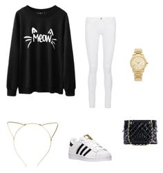 """""""Deluxe Taylor"""" by upperten on Polyvore featuring beauty, BP., Frame Denim, adidas, Chanel and Michael Kors"""