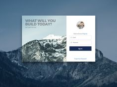 Dribbble - Login Page by Kyle Byrd