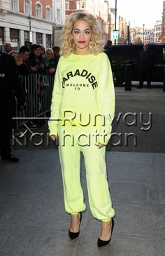 Rita Ora arriving at BBC Radio One studios in London, UK - Feb 15, 2013 - Photo: Runway Manhattan/GoffPhotos