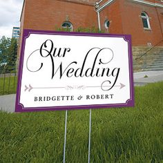 #weddingstar and #contest Expressions Wedding Directional Sign