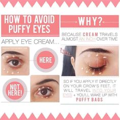 Put your R+F Multi-Function Eye Cream on the right way!  Puffy bags are due to the eye cream migrating. This means apply your eye cream along your brow line and along your zygomatic to allow for proper migration and banish puffy eyes forever!!!  Message me on Pinterest @ DanielleAFox