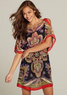 Alloy : Cece Cold-Shoulder Boho Dress $39.90 - I kind of love this dress~!