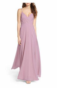 Main Image - Lulus Surplice Chiffon Gown