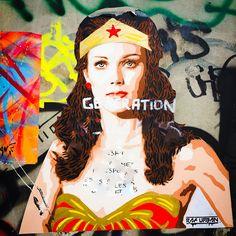 #wonderwoman by @raf.urban #rafurban #feminism #femen #amazon #queen #dc #dccomics #defender #streetart #streetartist #urbanart #urbanartist #graffiti #graff #streetartparis #parisgraffiti #graffitiwall #wall #wallporn #wallpornart #streetarteverywhere #streetphoto #streetartandgraffiti #urbanwalls #graffart #spray #bombing #collage #pochoir Bd du Général Jean Simon #paris