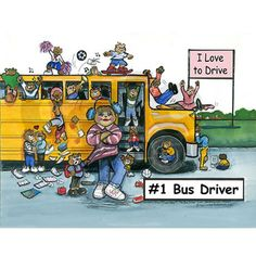 Female Bus Driver Note Cards (Pk of 20) on CafePress.com
