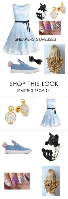"""Alice In Wonderland ~ Sneakers & Dresses"" by x-mad-hatter-x ❤ liked on Polyvore featuring Disney, Minna Parikka and Chanel"