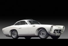 This Spanish car, a 1954 Pegaso Z-102 Series II Berlinetta, has a body by the French firm of Carrosserie J. Saoutchik.