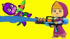 PJ Mask And Masha Play Water Shooting Games (New)