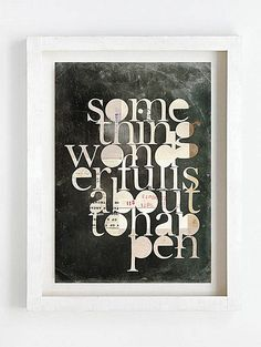 Print by Sophie Klerk, 'something wonderful is about to happen' Graphic Prints, Graphic Design, I Shop, Fine Art, Modern, Bricolage, Trendy Tree, Visual Arts, Visual Communication