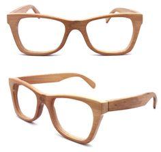 handmade bamboo  eyeglasses glasses frames 1055 c01 with prescripiton UV lenses.