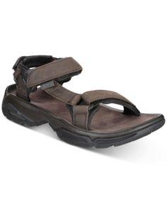 fe7875eda5f1 Teva Men s Terra Fi 4 Water-Resistant Leather Sandals - Brown 10 Brown Leather  Sandals